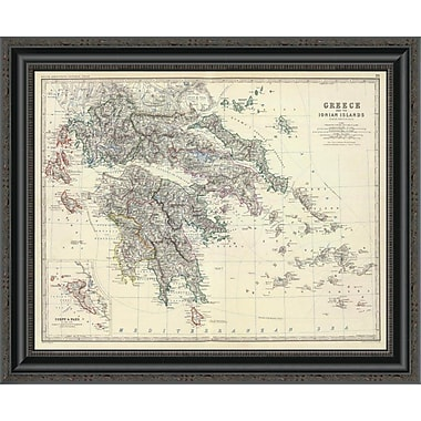 East Urban Home 'Greece; 1861' Framed Print; 22'' H x 26'' W x 1.5'' D