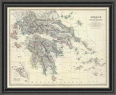 East Urban Home 'Greece; 1861' Framed Print; 28'' H x 34'' W x 1.5'' D