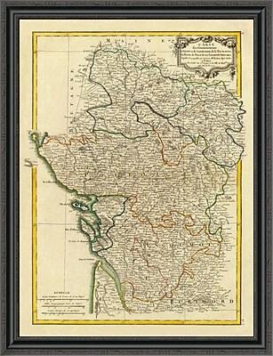 East Urban Home 'Anjou; Saumurois; Touraine; Poitou; Aunis; Saintonge; Angoumois; 1771' Framed Print