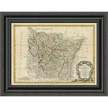 East Urban Home 'Lorraine; Alsace; 1786' Framed Print; 33'' H x 20'' W x 1.5'' D
