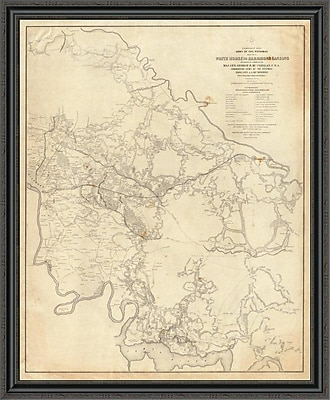 East Urban Home 'Civil War - White House to Harrisons Landing; 1862' Framed Print