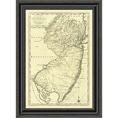 East Urban Home 'State of New Jersey; 1795' Framed Print; 30'' H x 19'' W x 1.5'' D
