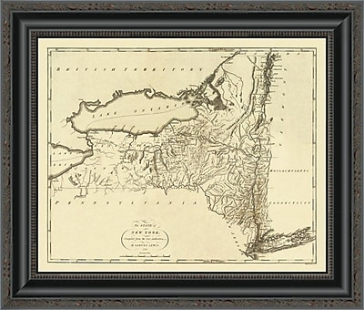 East Urban Home 'State of New York; 1795' Framed Print; 32'' H x 20'' W x 1.5'' D