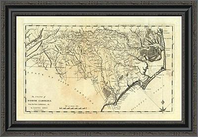 East Urban Home 'State of North Carolina; 1795' Framed Print; 26'' H x 26'' W x 1.5'' D
