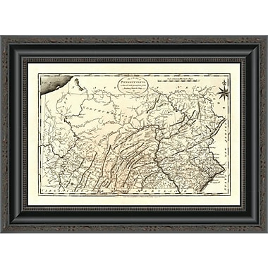 East Urban Home 'State of Pennsylvania; 1795' Framed Print; 17'' H x 20'' W x 1.5'' D