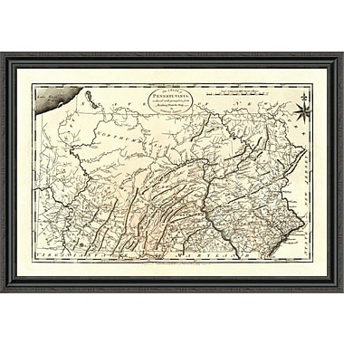 East Urban Home 'State of Pennsylvania; 1795' Framed Print; 36'' H x 44'' W x 1.5'' D