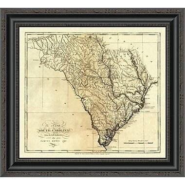 East Urban Home 'State of South Carolina; 1795' Framed Print; 14'' H x 20'' W x 1.5'' D