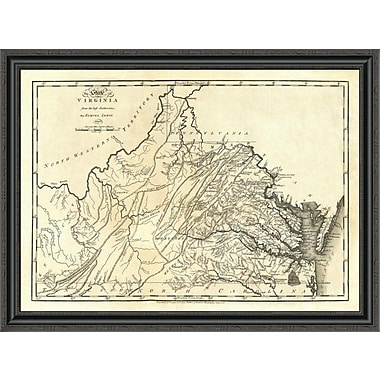 East Urban Home 'State of Virginia; 1795' Framed Print; 24'' H x 40'' W x 1.5'' D