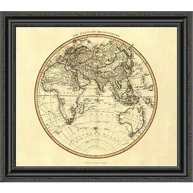 East Urban Home 'Eastern Hemisphere; 1801' Framed Print; 15'' H x 26'' W x 1.5'' D