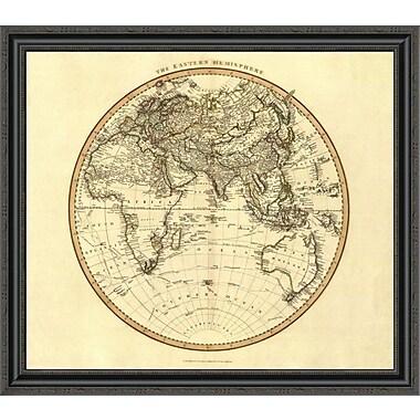 East Urban Home 'Eastern Hemisphere; 1801' Framed Print; 20'' H x 34'' W x 1.5'' D