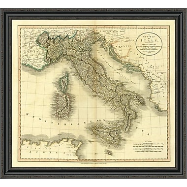 East Urban Home 'Italy; 1799' Framed Print; 20'' H x 34'' W x 1.5'' D