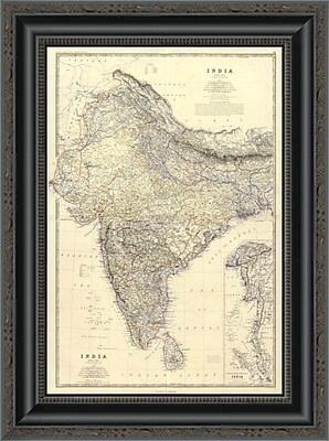 East Urban Home 'Composite: India; 1861' Framed Print; 20'' H x 15'' W x 1.5'' D