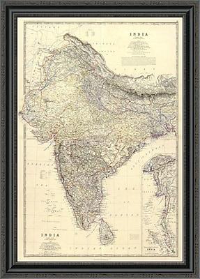 East Urban Home 'Composite: India; 1861' Framed Print; 25'' H x 24'' W x 1.5'' D