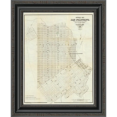East Urban Home 'Official Map of San Francisco; 1851' Framed Print; 20'' H x 16'' W x 1.5'' D