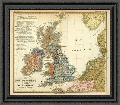 East Urban Home 'Die Britischen Inseln: Volker Und Sprachen; 1847' Framed Print