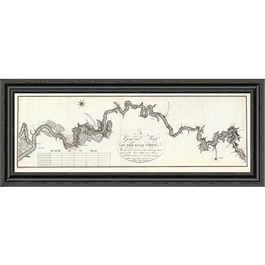 East Urban Home 'A General Map of the River Ohio; 1796' Framed Print; 20'' H x 40'' W x 1.5'' D