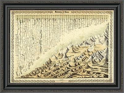 East Urban Home 'Mountains & Rivers; 1856' Framed Print; 17'' H x 26'' W x 1.5'' D