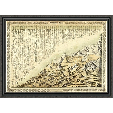 East Urban Home 'Mountains & Rivers; 1856' Framed Print; 29'' H x 40'' W x 1.5'' D