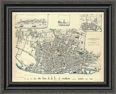 East Urban Home 'Liverpool; England; 1836' Framed Print; 16'' H x 20'' W x 1.5'' D
