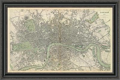 East Urban Home 'London; England; 1843' Framed Print; 28'' H x 34'' W x 1.5'' D