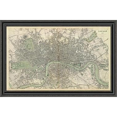 East Urban Home 'London; England; 1843' Framed Print; 33'' H x 40'' W x 1.5'' D
