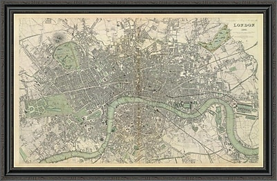 East Urban Home 'London; England; 1843' Framed Print; 36'' H x 44'' W x 1.5'' D