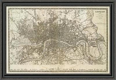 East Urban Home 'London; England; 1845' Framed Print; 31'' H x 40'' W x 1.5'' D