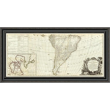 East Urban Home 'A New Map of the Whole Continent of America (Southern Section); 1786' Framed Print