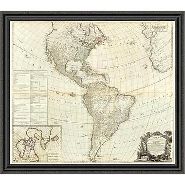 East Urban Home 'Composite: America; 1786' Framed Print; 26'' H x 40'' W x 1.5'' D