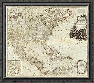 East Urban Home 'Composite: North America; West India Islands; 1786' Framed Print