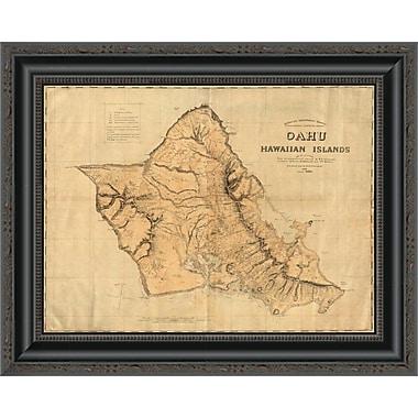 East Urban Home 'Oahu; Hawaiian Islands; 1881' Framed Print; 40'' H x 20'' W x 1.5'' D