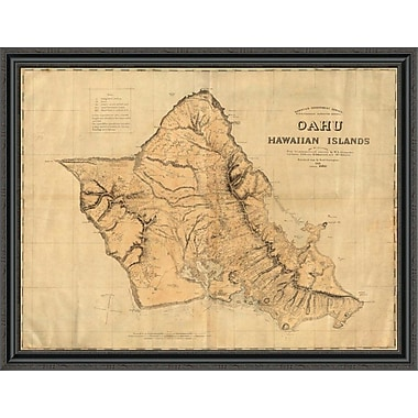 East Urban Home 'Oahu; Hawaiian Islands; 1881' Framed Print; 40'' H x 44'' W x 1.5'' D