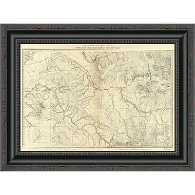 East Urban Home 'Western Colorado and Part of Utah; 1881' Framed Print; 15'' H x 20'' W x 1.5'' D