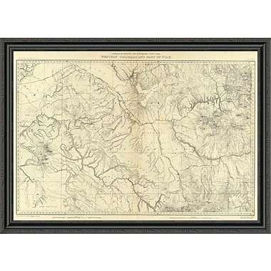 East Urban Home 'Western Colorado and Part of Utah; 1881' Framed Print; 32'' H x 44'' W x 1.5'' D
