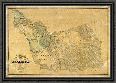 East Urban Home 'The County of Alameda California; 1857' Framed Print; 25'' H x 40'' W x 1.5'' D