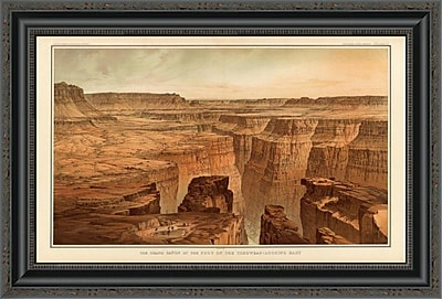 East Urban Home 'Grand Canyon - Foot of the Toroweap Looking East; 1882' Framed Print