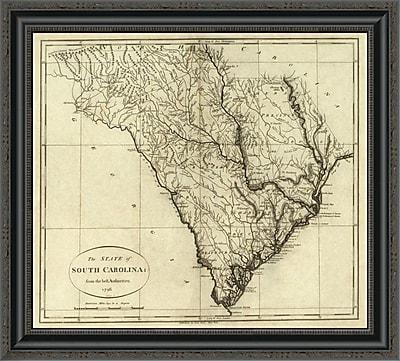 East Urban Home 'State of South Carolina; 1796' Framed Print; 26'' H x 26'' W x 1.5'' D