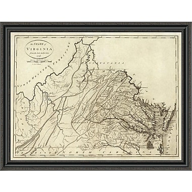 East Urban Home 'State of Virginia; 1796' Framed Print; 26'' H x 40'' W x 1.5'' D