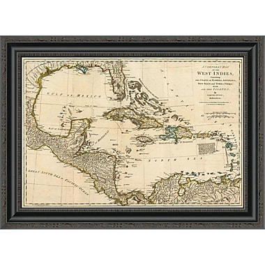 East Urban Home 'A Complete Map of the West Indies; 1776' Framed Print; 19'' H x 26'' W x 1.5'' D