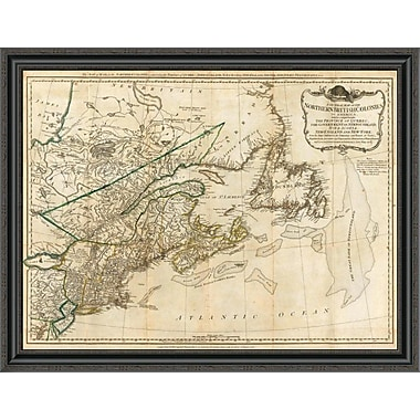 East Urban Home 'A General Map of the Northern British Colonies in America; 1776' Framed Print
