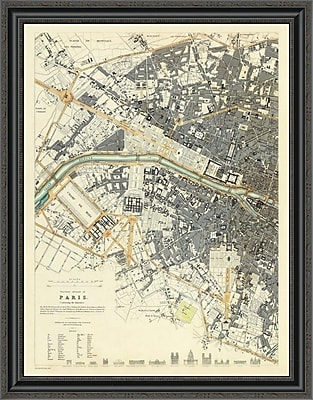 East Urban Home 'Paris; France; 1834' Framed Print; 34'' H x 28'' W x 1.5'' D