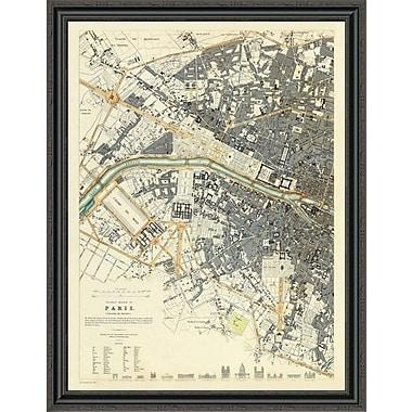 East Urban Home 'Paris; France; 1834' Framed Print; 44'' H x 34'' W x 1.5'' D