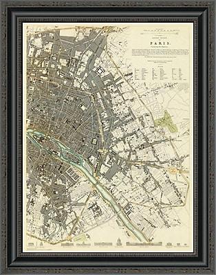 East Urban Home 'Paris; France; 1834' Framed Print; 26'' H x 20'' W x 1.5'' D
