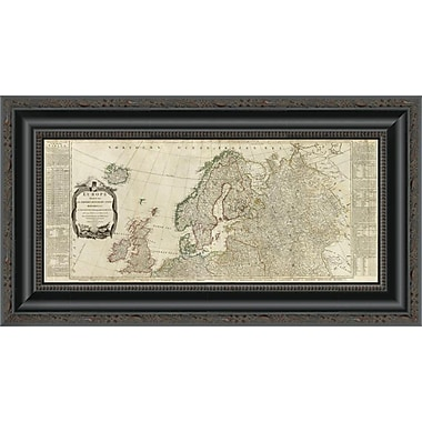 'Europe Divided Into Its Empires; Kingdoms; States; Republics (Northern States); 1787' Framed Print
