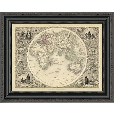 East Urban Home 'Eastern Hemisphere; 1851' Framed Print; 26'' H x 20'' W x 1.5'' D