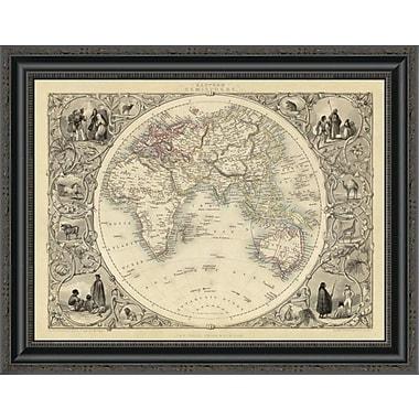 East Urban Home 'Eastern Hemisphere; 1851' Framed Print; 34'' H x 26'' W x 1.5'' D