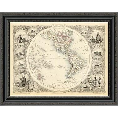 East Urban Home 'Western Hemisphere; 1851' Framed Print; 20'' H x 26'' W x 1.5'' D