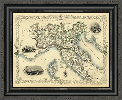 East Urban Home 'Northern Italy; 1851' Framed Print; 20'' H x 20'' W x 1.5'' D