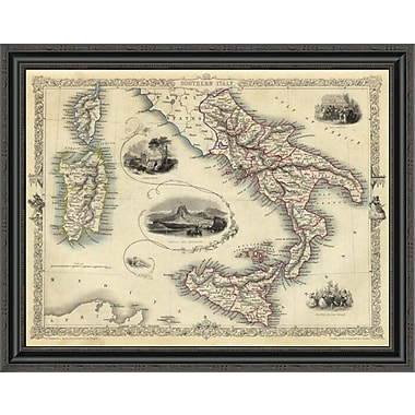 East Urban Home 'Southern Italy; 1851' Framed Print; 34'' H x 34'' W x 1.5'' D