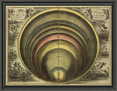 East Urban Home 'Maps of the Heavens: Corprum Coelestium' Framed Print; 16'' H x 44'' W x 1.5'' D